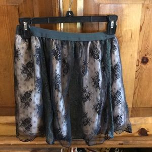Pretty floral lace skirt